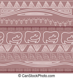 Seamless ethnic pattern in African style