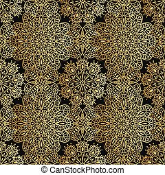 Seamless ethnic pattern with mandal