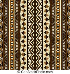 seamless, etnisk, mönster