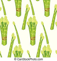 Asparagus isolated on white background. Vector illustration.