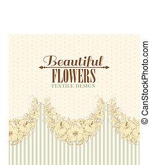 Seamless fabric design of hibiscus. Vector illustration.