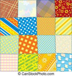Seamless Fabric Texture - Seamless Quilt Fabric Texture....