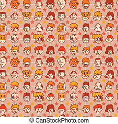 seamless face pattern