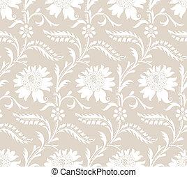 Seamless fancy floral pattern
