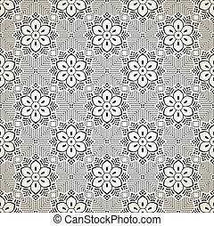 Seamless fancy floral wallpaper