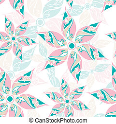 Seamless fancy flower background