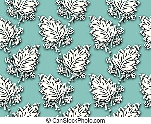 Seamless fancy leaves background