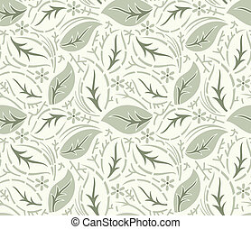 Seamless fancy leaves wallpaper - Seamless fancy leaves...