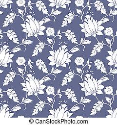 Seamless fancy lotus flower background-wallpaper