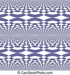 Seamless fancy op art patttern. - Seamless geometric fancy...