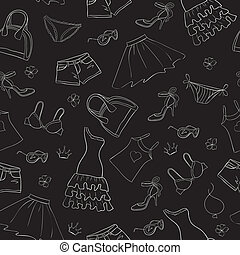 seamless fashion background vector illustration colorful clipart