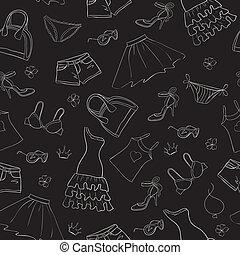 seamless fashion background