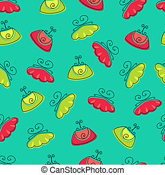 Seamless fashion bag clutch on background pattern in vector