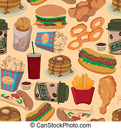 seamless fast food pattern