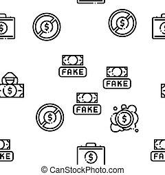 seamless, faux, vecteur, argent, modèle