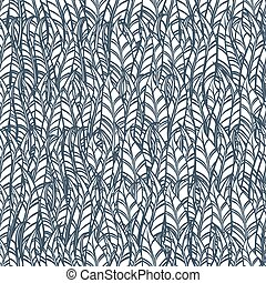 Seamless feather pattern. Vector illustration