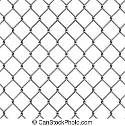 seamless fence isolated3d  illustration