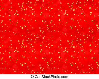 stars on a red background