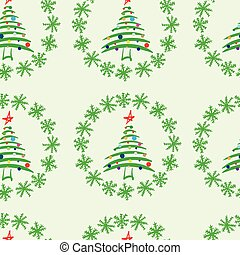 Seamless fir-trees in snow