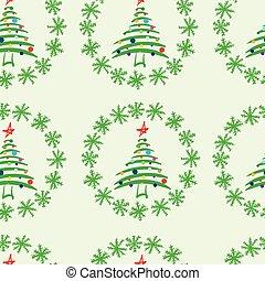 Seamless fir-trees in snow