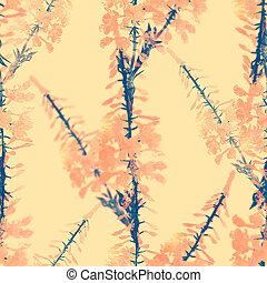 seamless, fireweed, 花, パターン