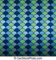Seamless fish scale pattern background