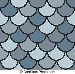 Seamless Fish Scale Pattern Vector Illustration EPS10