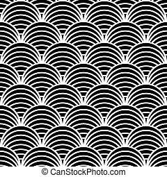 Seamless 'fish scale' pattern.