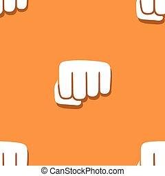 Seamless fist pattern