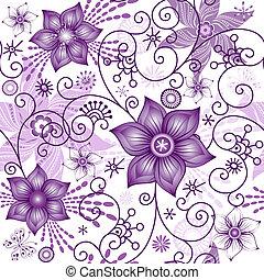 seamless, fjäder, white-violet, mönster