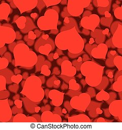 Seamless Flat Blurred Heart Pattern Vector