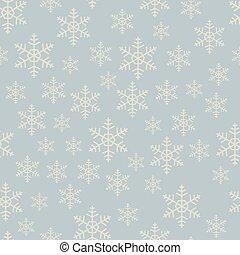 Seamless flat grey snowflake vector pattern.