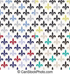 seamless, fleur de lis, 패턴