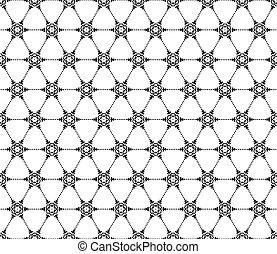 seamless, flocons neige, pattern., eps, 10