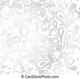 seamless, floral, achtergrond., vector