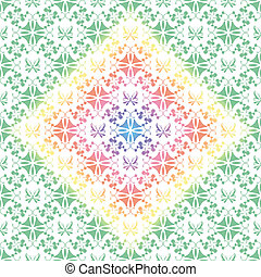 Seamless floral and butterfly pattern