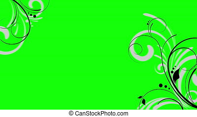 Seamless floral animation on green screen that can be used as overlay on videos