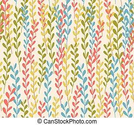 seamless floral autumn pattern