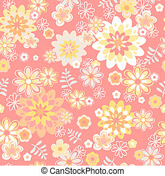 seamless floral background. Flower vector.