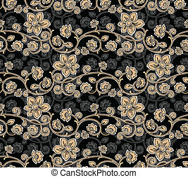 seamless, floral-background