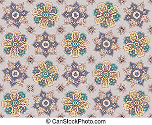 Seamless floral background, repeating elements