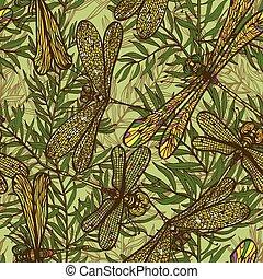 Seamless floral background - Seamless hand drawn vintagel ...