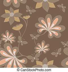 Seamless floral background . Vector