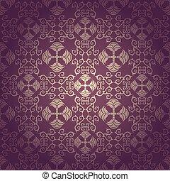 Seamless floral baroque vector
