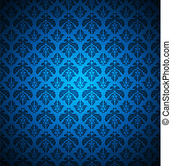 seamless floral blue background