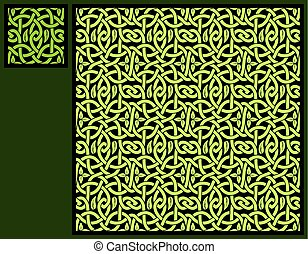 Seamless floral celtic pattern