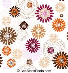 seamless, floral, configuración de pastel