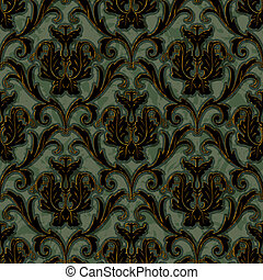 seamless floral damask pattern background - seamless floral...