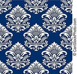 Seamless floral damask pattern