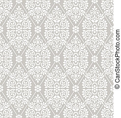 Seamless floral damask wallpaper